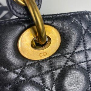 Dior Bags - Dior Classic Lady Dior with Strap Quilted Cannage